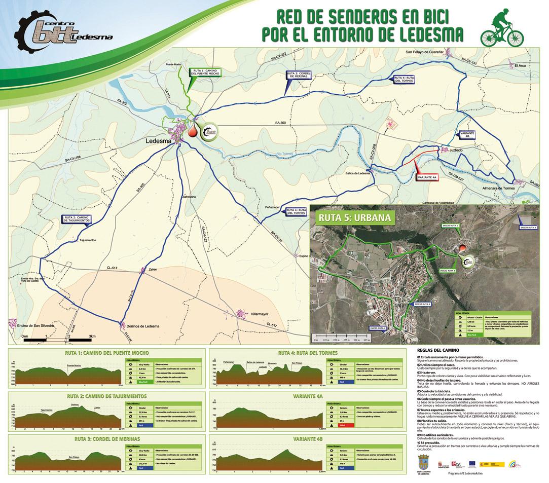 Rutas en BTT por el entorno de Ledesma