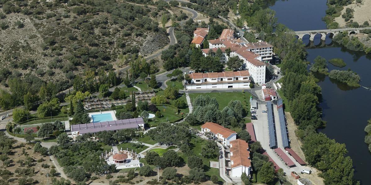 Foto aérea de las instalaciones del Balneario