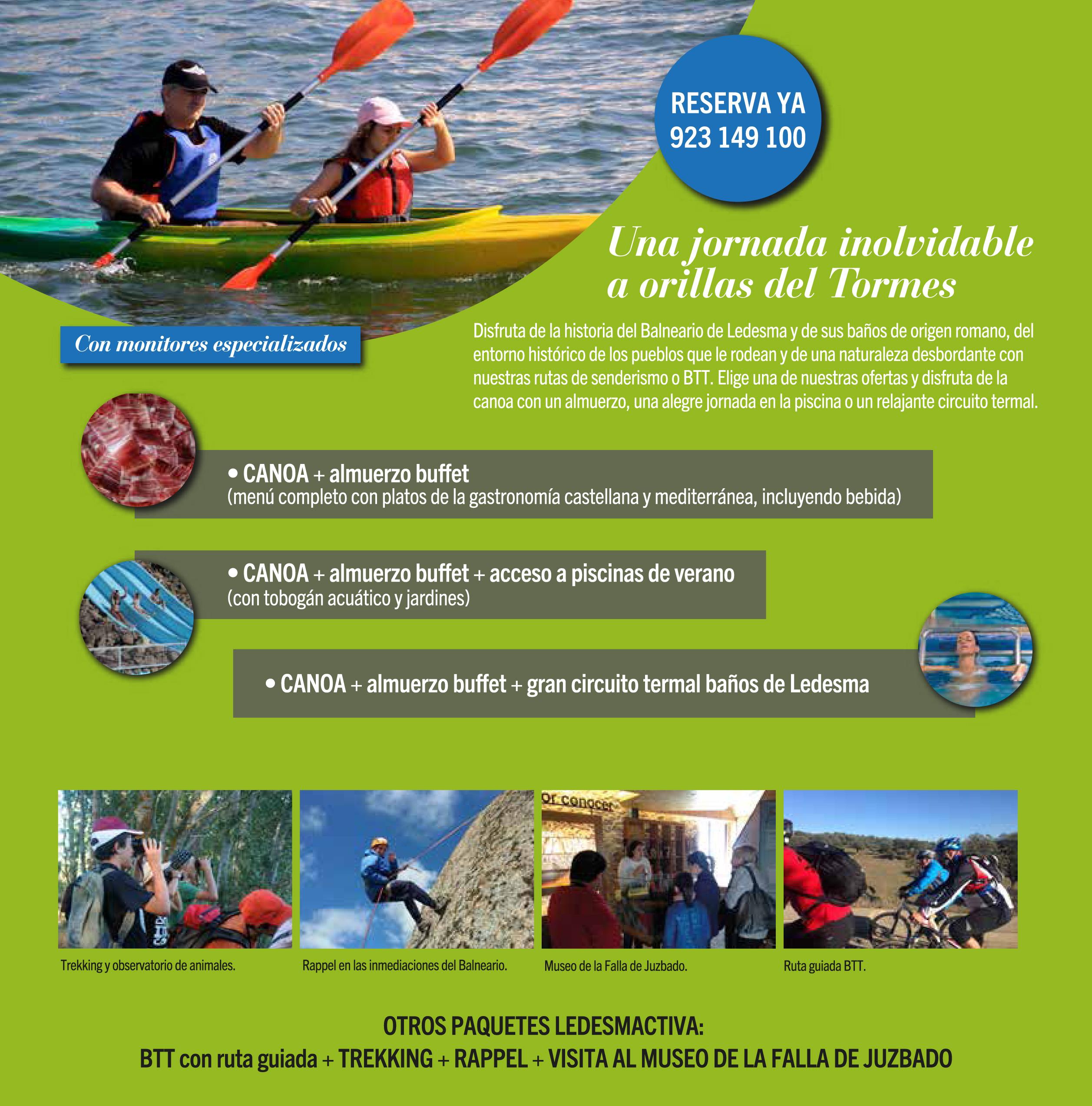 Ofertas y paquetes de turismo activo en Ledesma