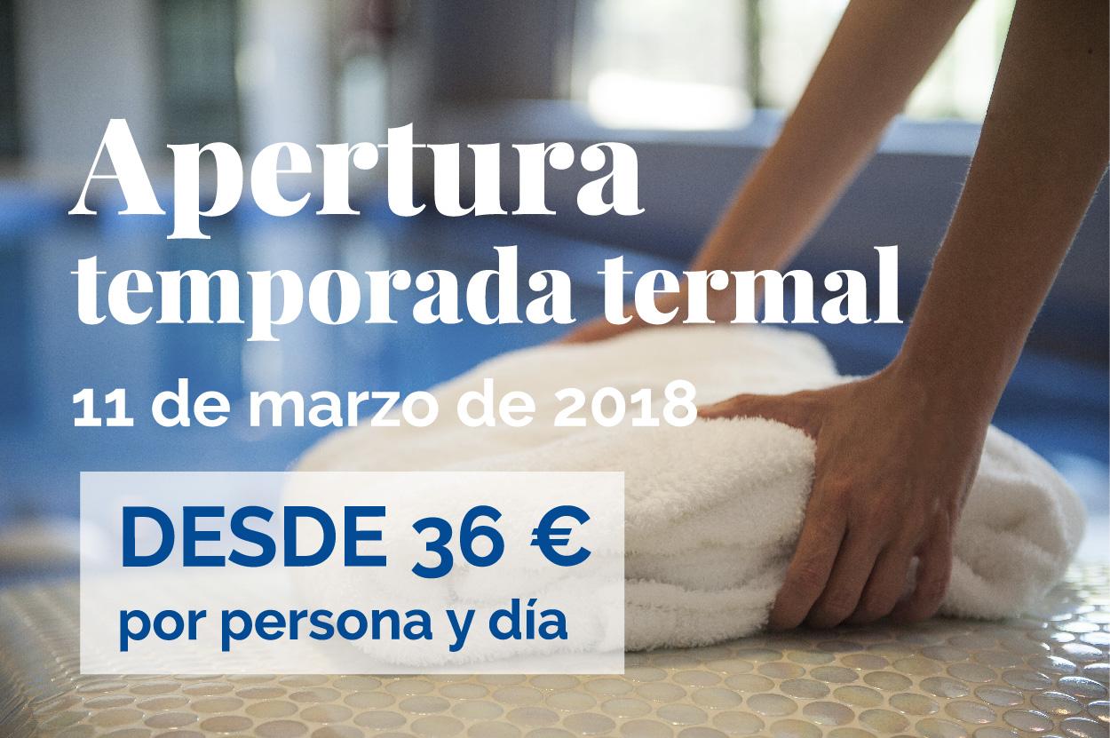 Inicio de la nueva temporada termal del Balneario de Ledesma el 11 de marzo de 2018